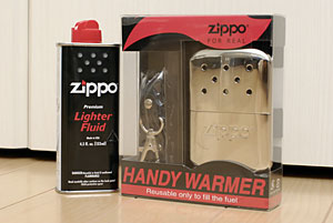 zipoのハンディウォーマー