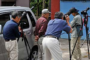 トキ撮影のカメラマン