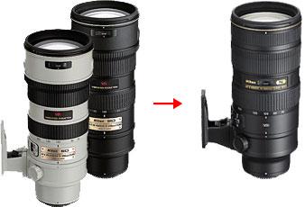 AF-S NIKKOR 70-200mm F2.8G ED VR IIの変化